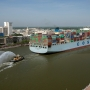 'It takes up the whole river!' U.S. ports welcome giant ship