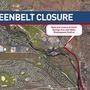 Section of Greenbelt closing for 8 months