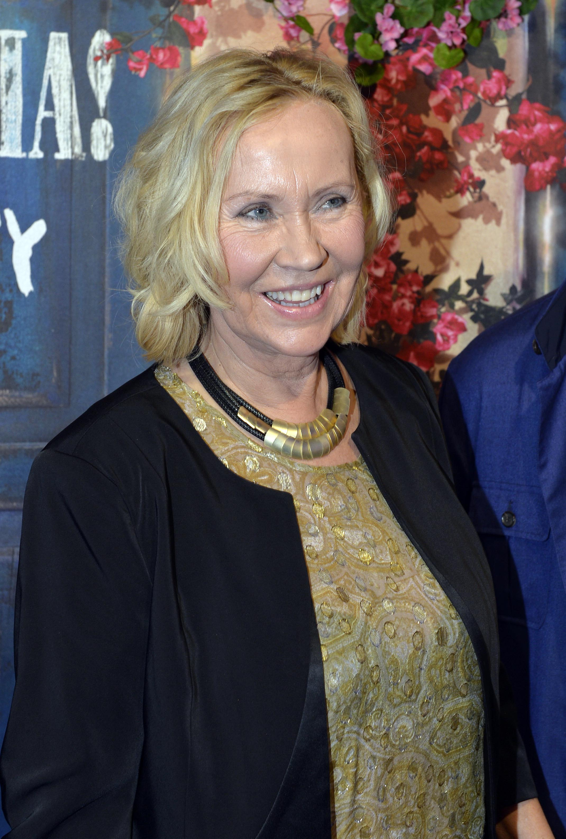 "Former Abba member Agnetha Faltskog arrives for the premiere of ""Mamma Mia The Party ""  at the Tyrol restaurant, in Stockholm,  Sweden, Wednesday, Jan. 20, 2016. The four former members of iconic Swedish pop group ABBA have made a rare joint appearance for the opening of a Stockholm restaurant inspired by the ""Mamma Mia!"" musical. (Anders Wiklund /TT via AP)"
