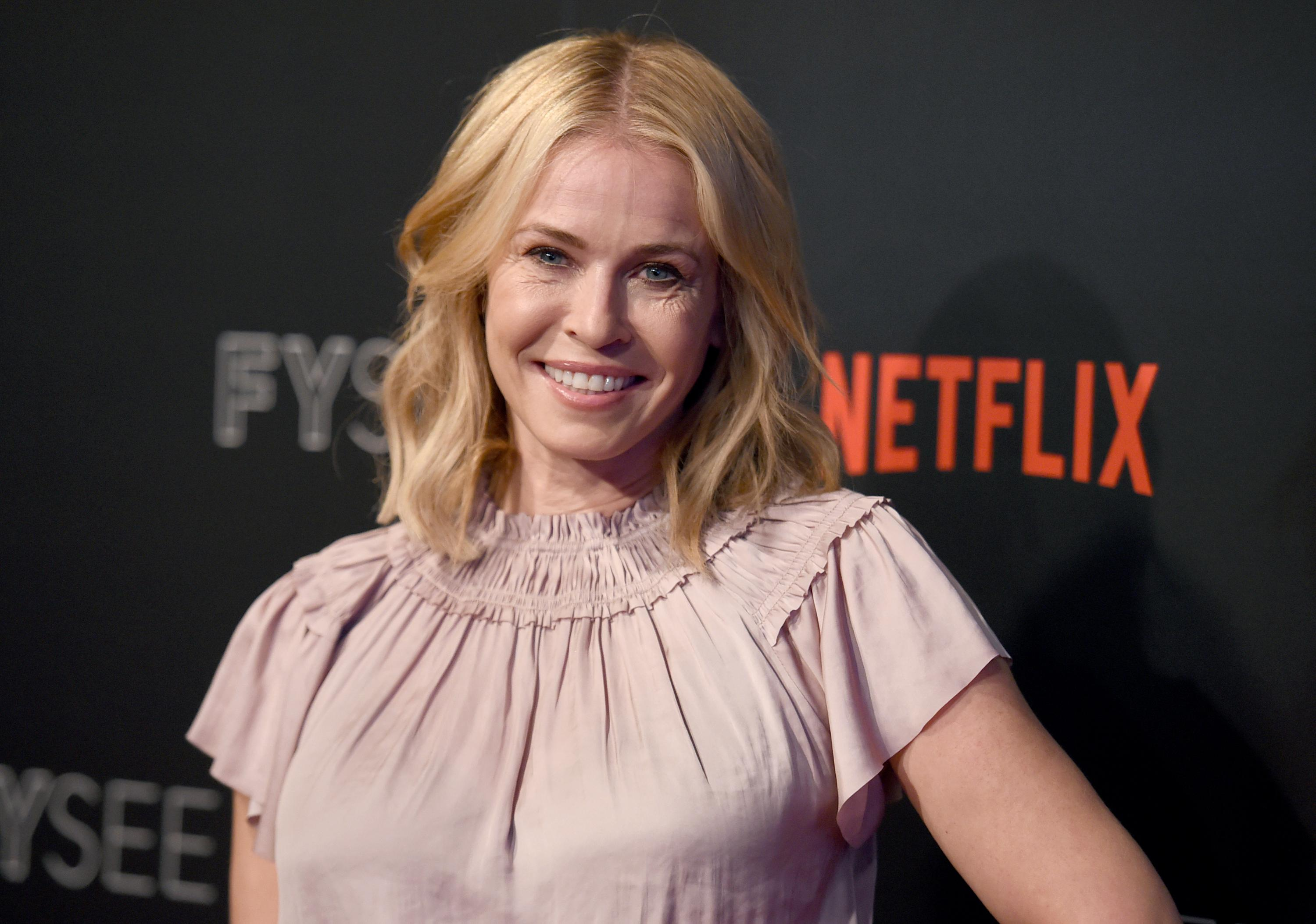 FILE - In this May 23, 2017, file photo, Chelsea Handler arrives at the Netflix Comedy Panel For Your Consideration Event at the Netflix FYSee Space in Beverly Hills, Calif. Handler announced on Oct. 18, 2017, that she is ending her Netflix talk show after two seasons in order to focus on political activism. (Photo by Richard Shotwell/Invision/AP, File)