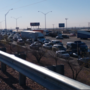 Accident backing up area around I-10 west and Airway