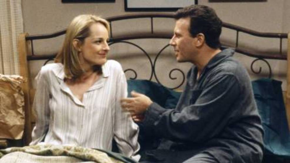 Helen Hunt and Paul Reiser working on 'Mad About You' revival
