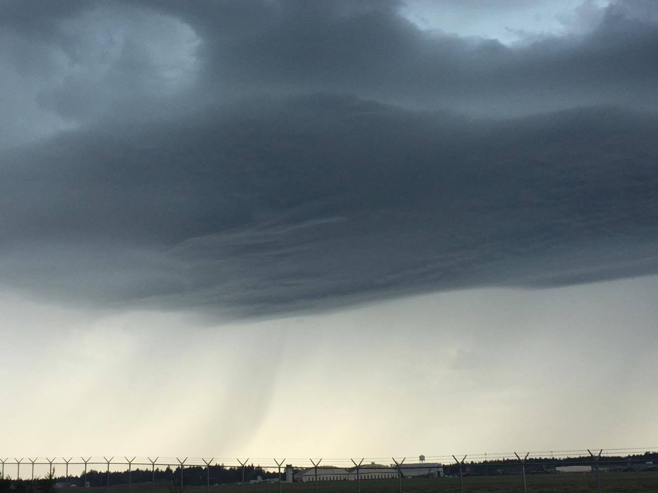 Storms seen near the runway at Joint Base Lewis-McChord. (Photo courtesy of Shonna Horan Pessemier)