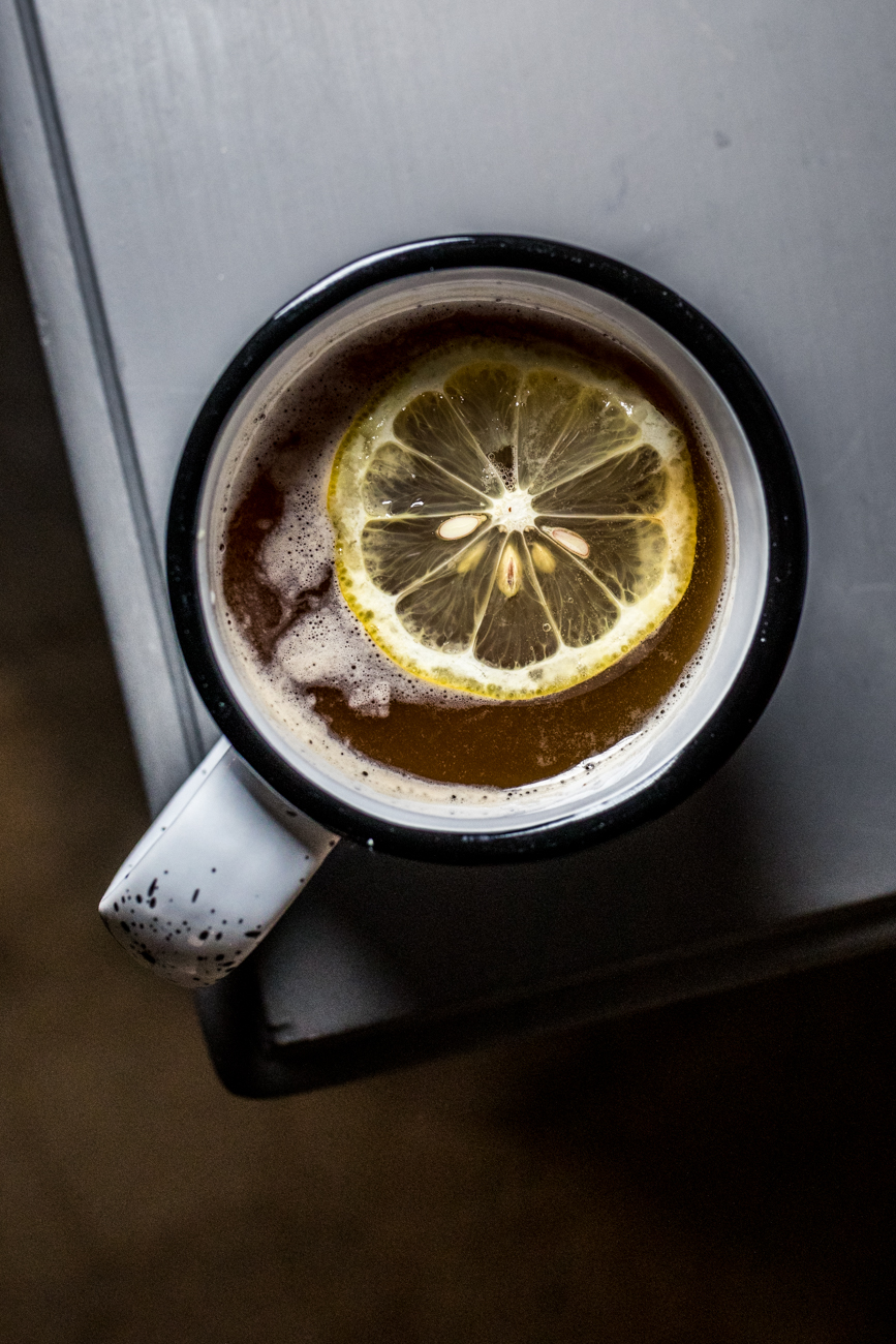 Cold Toddy: bourbon, Earl Grey tea, lemon, and Ohio maple syrup / Image: Catherine Viox{ }// Published: 7.3.20