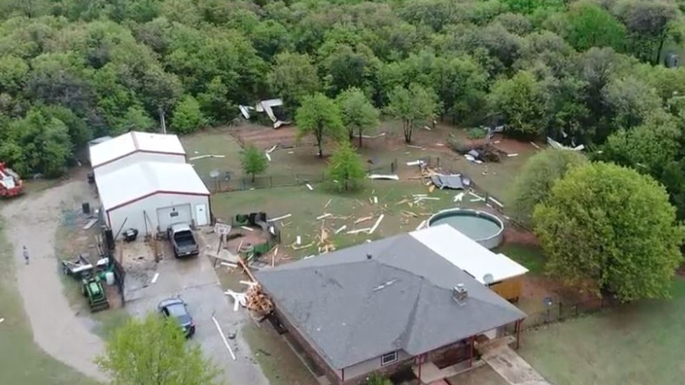 Inside the Storm: Drone captures video of Norman tornado damage