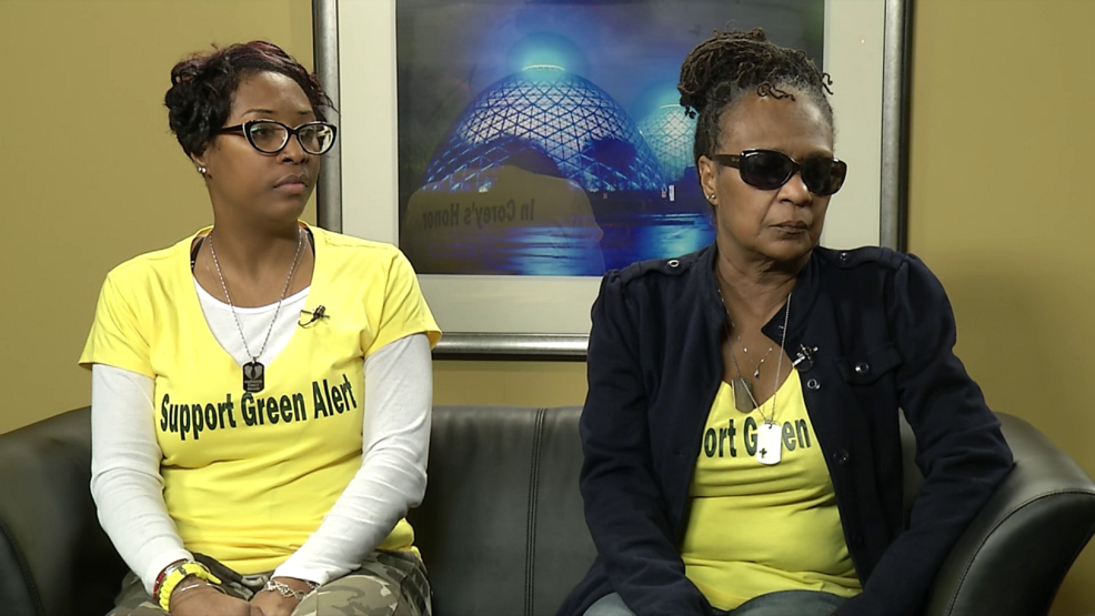 Carmen and Gwen Adams, Green Alert - The Corey Adams Project.png