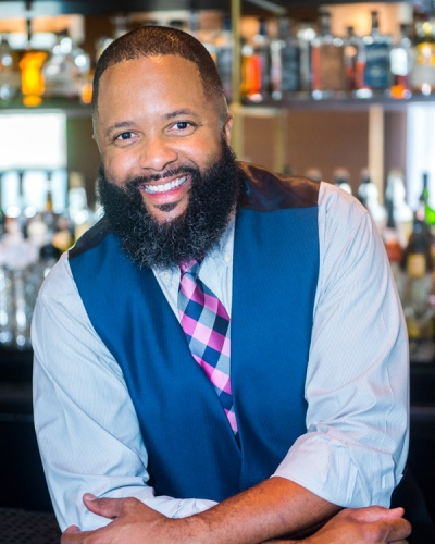 "Some mixologists have decided not to take sides in this election season, likeTorrence Swain. ""This election is crazy, so we wanted to keep [our drinks] light-hearted, fun and candidate-neutral,"" Swain admits.  (Image: Courtesy Bourbon Steak)"