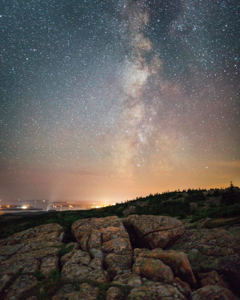 IMAGE: IG user @conormccann / POST: Every since I saw the Milky Way in a clear night sky for the first time I've craved being in places with little light pollution. I was super excited to get out to Acadia NP to shoot some Astro last week and I wasn't let down. This was the view from Cadillac Point at 3am #weareborntoexplore
