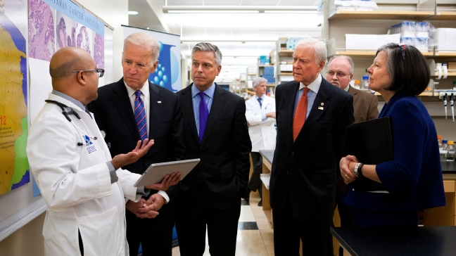Vice President Joe Biden Tours Huntsman Cancer Institute