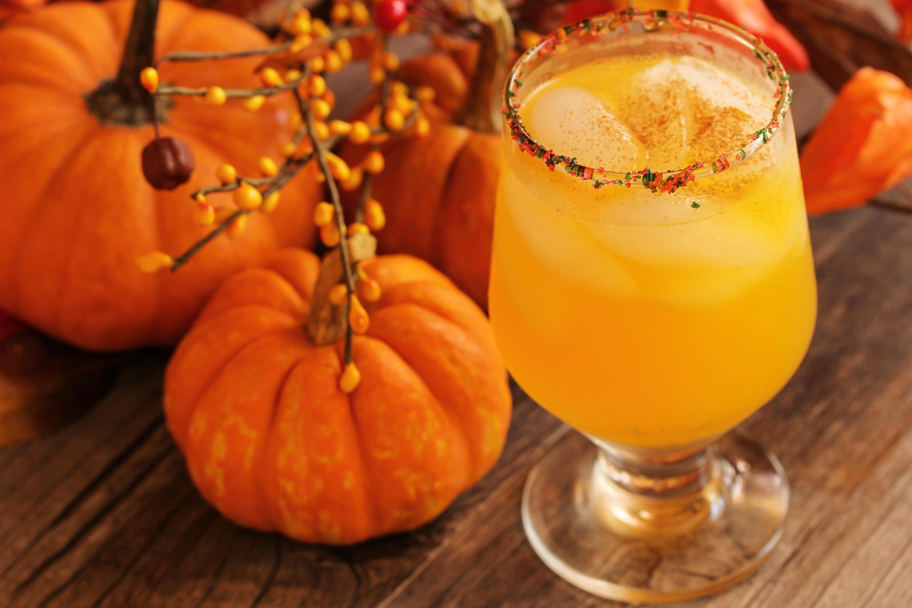 The Jack – O- Lantern: 1 oz D'USSE VSOP cognac, 1.5 oz orange juice, 0.5 oz ginger ale, 0.5 oz triple sec. Combine all ingredients into shaker and serve in old fashioned glass. Garnish with orange wheel or twist. (Image: D'USSE)