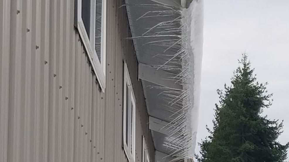 What's with the sideways icicles in Ferndale?