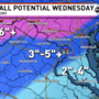 Accumulating snow in the morning mixes with sleet, freezing rain by Wednesday afternoon