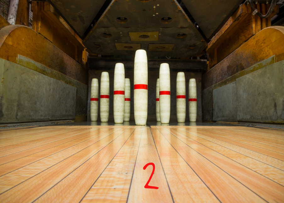 #2 - Wyoming has one of the oldest, most unique bowling alleys in the entire Midwest. It's a candlepin bowling alley and it's located at the Civic Center. One key difference between this and a regular bowling alley is that these balls don't have holes and you get three rolls at the pins, not two. / Image: Phil Armstrong, Cincinnati Refined