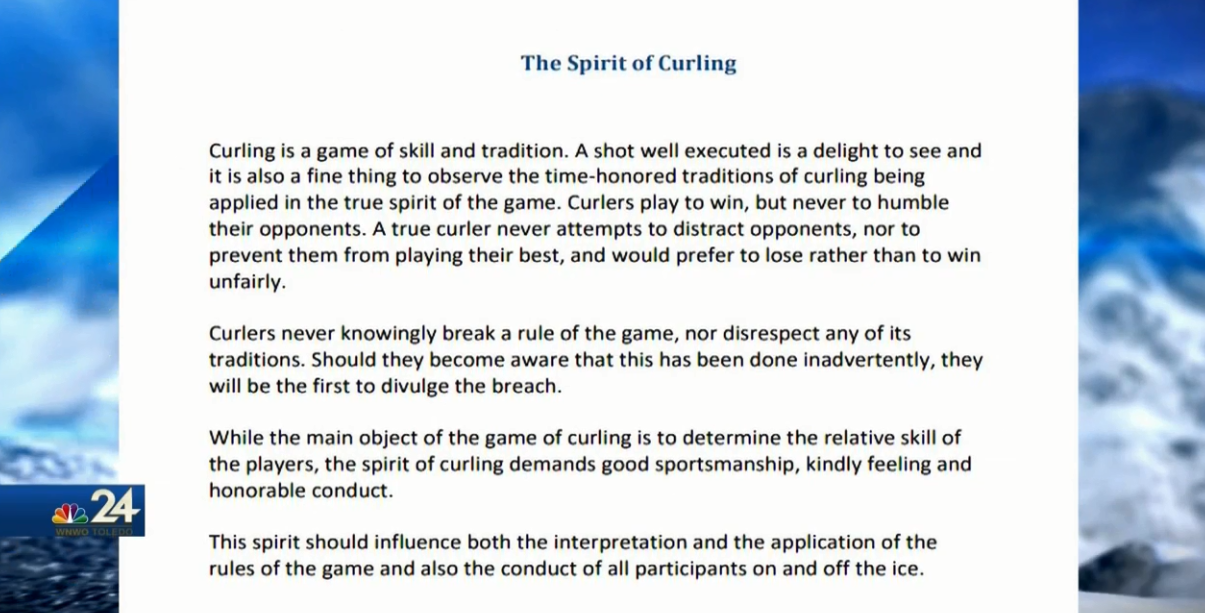 The Spirit of Curling. A section of the offical US Curling Association handbook (WNWO)<p></p>