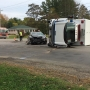 Ambulance left on its side after collision in Grand Traverse County
