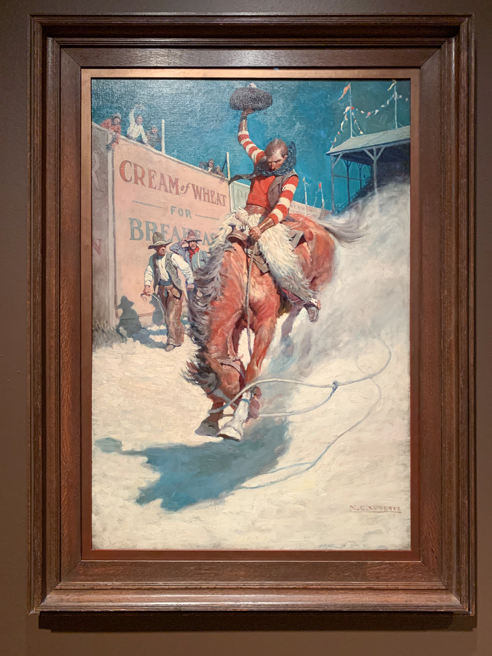 Having studied at the Howard Pyle School of Art in Delaware, Wyeth's love of Native Americans and the American West informed much of his early work. His commissioned paintings often showcased an intense amount of drama, movement, and adventure. / Image: Phil Armstrong, Cincinnati Refined // Published: 2.9.20