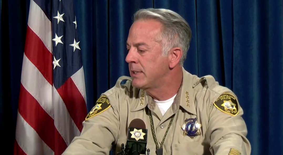 Sheriff Joe Lombardo during a press conference at LVMPD Headquarters on Friday, Oct. 13, 2017. (KSNV, file)