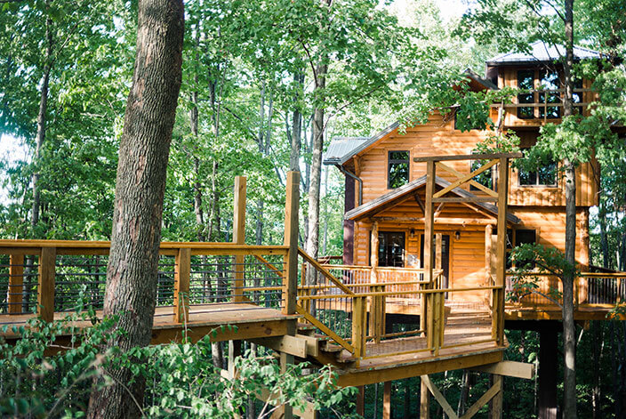 Stay in this treehouse when you take that overnight trip for Water s edge cabins of berlin