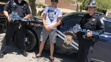 Nevada teen honors law enforcement with personalized metal signs
