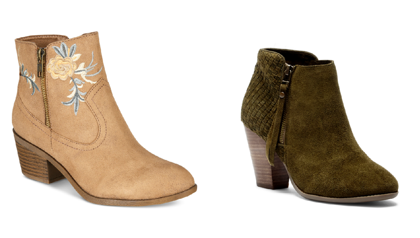 Snag a pair of cute booties for a great price! (Photo courtesy: Macy's &amp;amp; Sole Society)<p></p>
