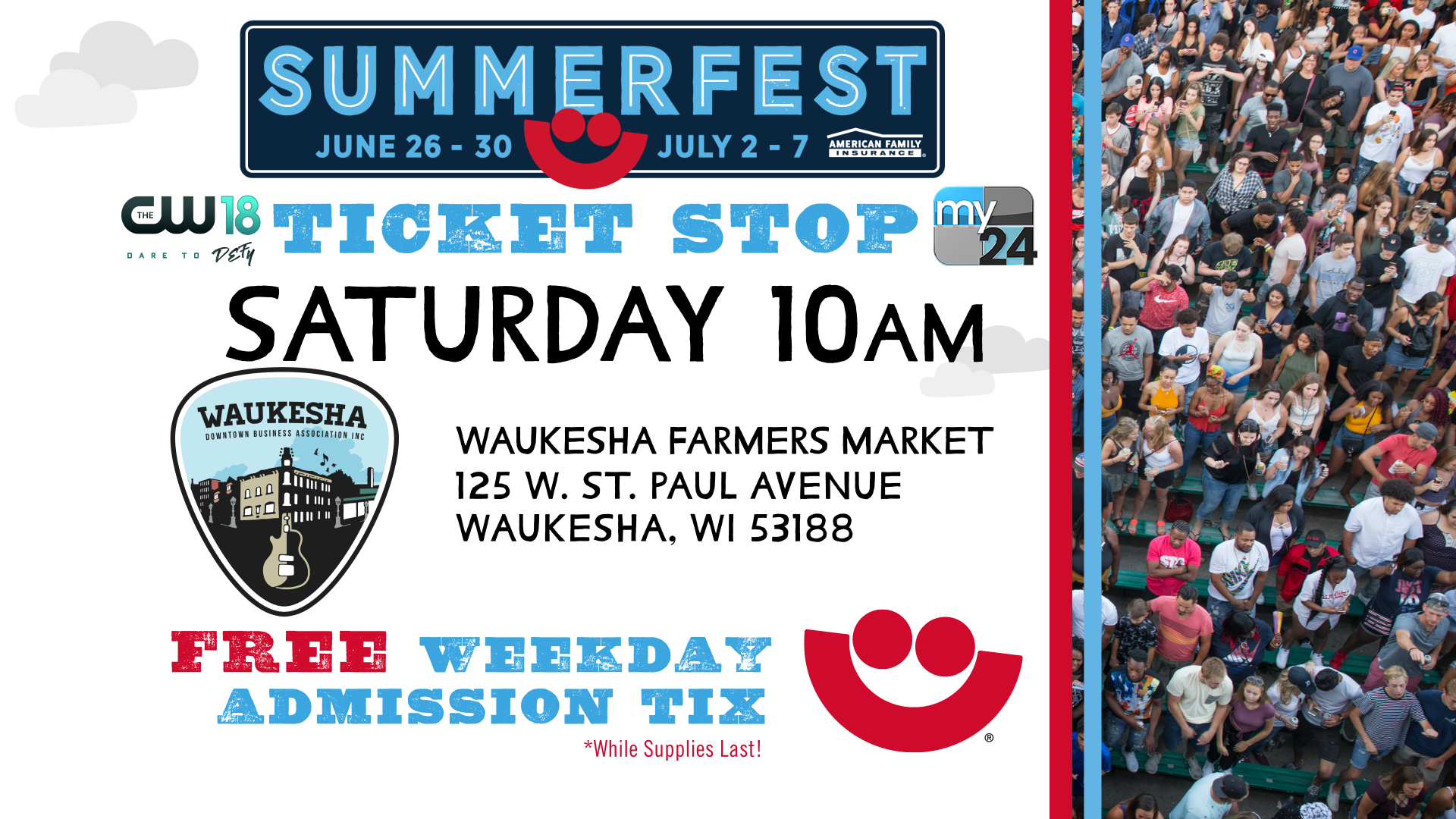 Summerfest 2019 Ticket Stop | Waukesha Farmers Market (06.15.19)