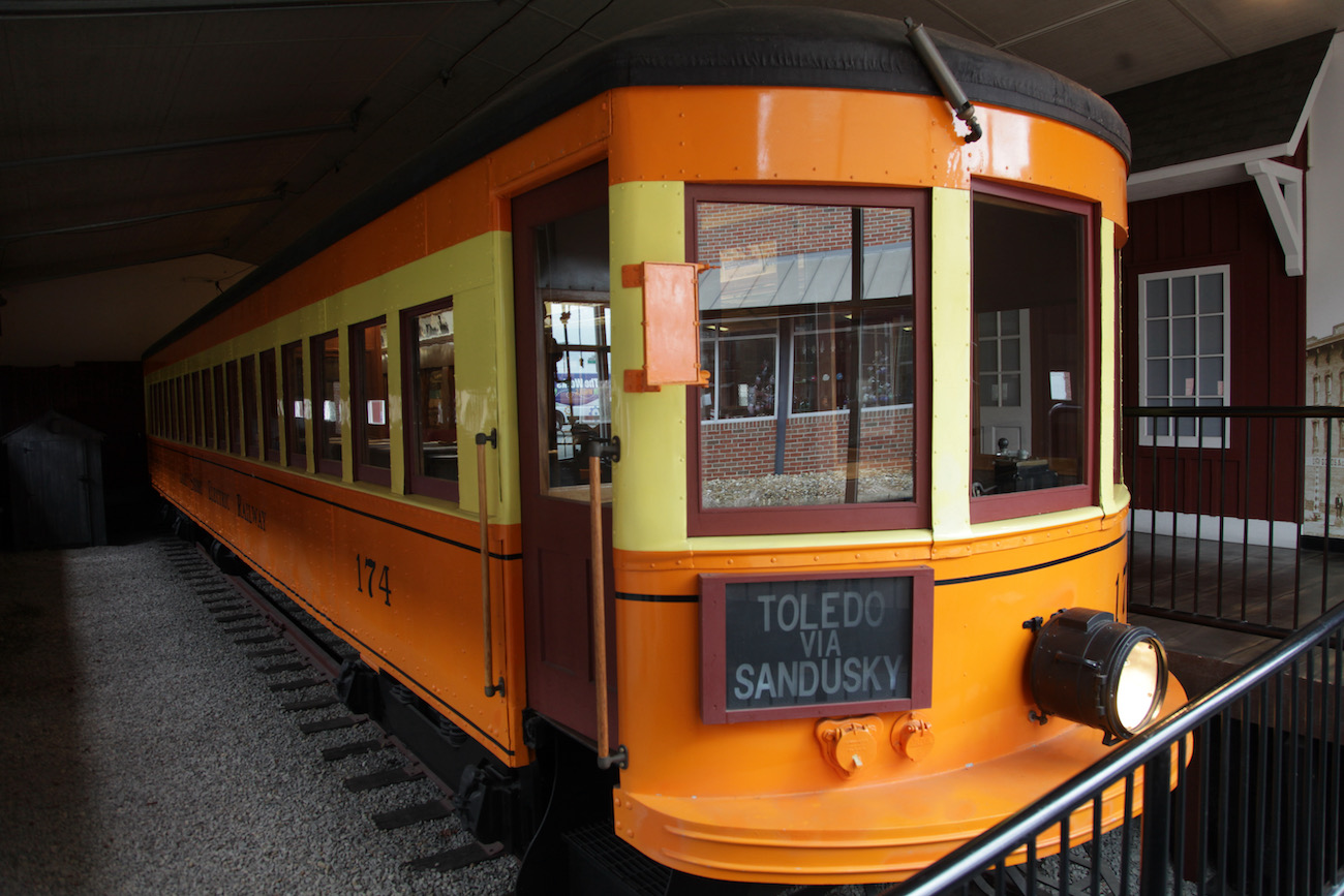Pictured is an Interurban Railway Car housed in its own building in The Works: Ohio Center for History, Art & Technology. These cars were built in Newark and used for mass transportation in the early 1900's. This particular car was actually converted into a stationary, private residence in the 1970s until it was removed from its lot, completely renovated, and turned into a permanent exhibit.  ADDRESS: 55 S. 1st Street, Newark, Ohio (43055) / Image: Chez Chesak // Published: 2.12.21