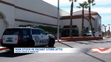 Suspected copper thief stuck in attic of vacant Las Vegas grocery store
