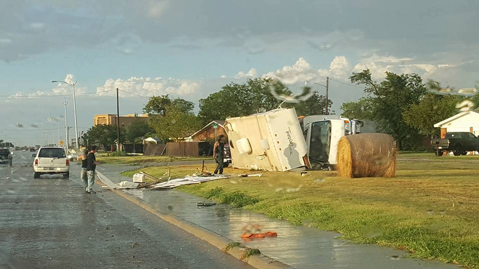 Storm damage in Pampa. (Photo courtesy: Michelle Osborn)