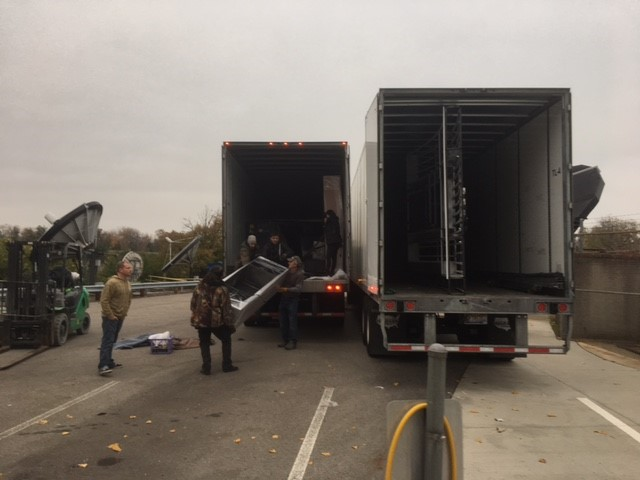 All the parts for the new set arrived on two semi trucks (WSYX/WTTE)<p></p>