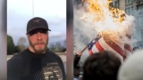 Oregon man creates video response to flag burning at Portland protest