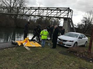 The vehicle belonging a missing Naples woman was found in the Erie Canal in Waterloo Tuesday night. (Photo: NYSP)