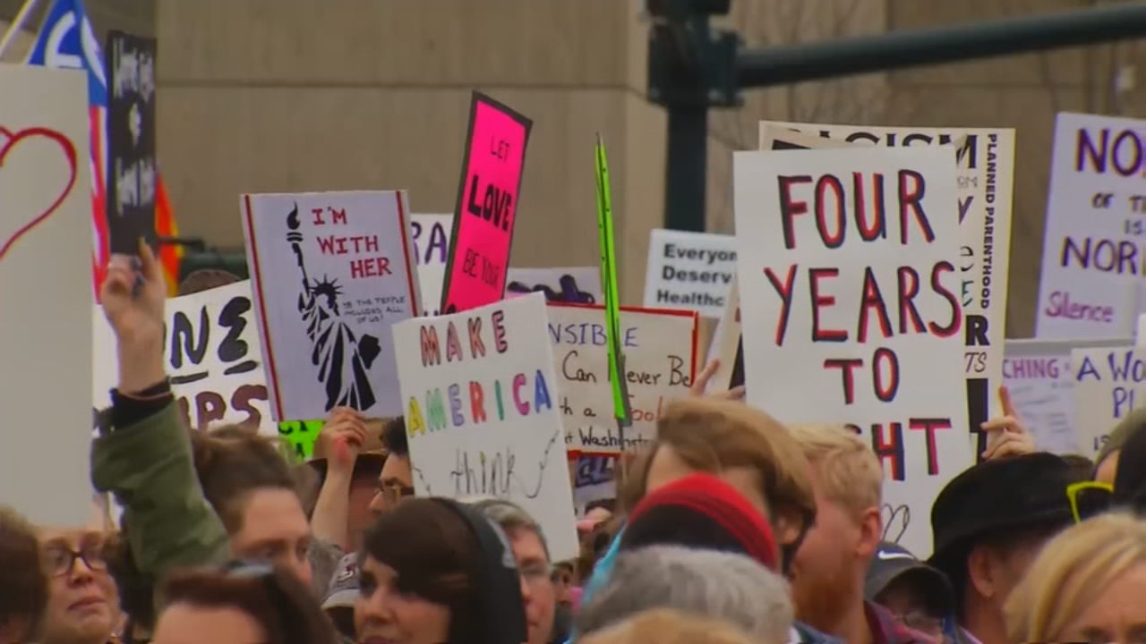 FILE - Asheville's Women's March in January of 2017. (Photo credit: WLOS Staff)