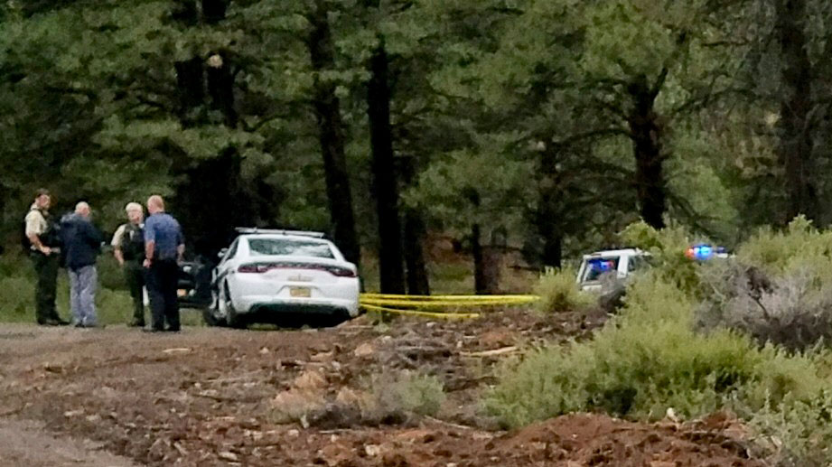 KTVZ reported Thursday that 44-year-old Jesse Wade Powell died after being shot by Deputy Randy Zilk. Springfield Police arrested Powell last year on accusations he left a hoax explosive device outside a building, causing a bomb scare that forced hundreds of people to evacuate. (Scene photo via DCSO)