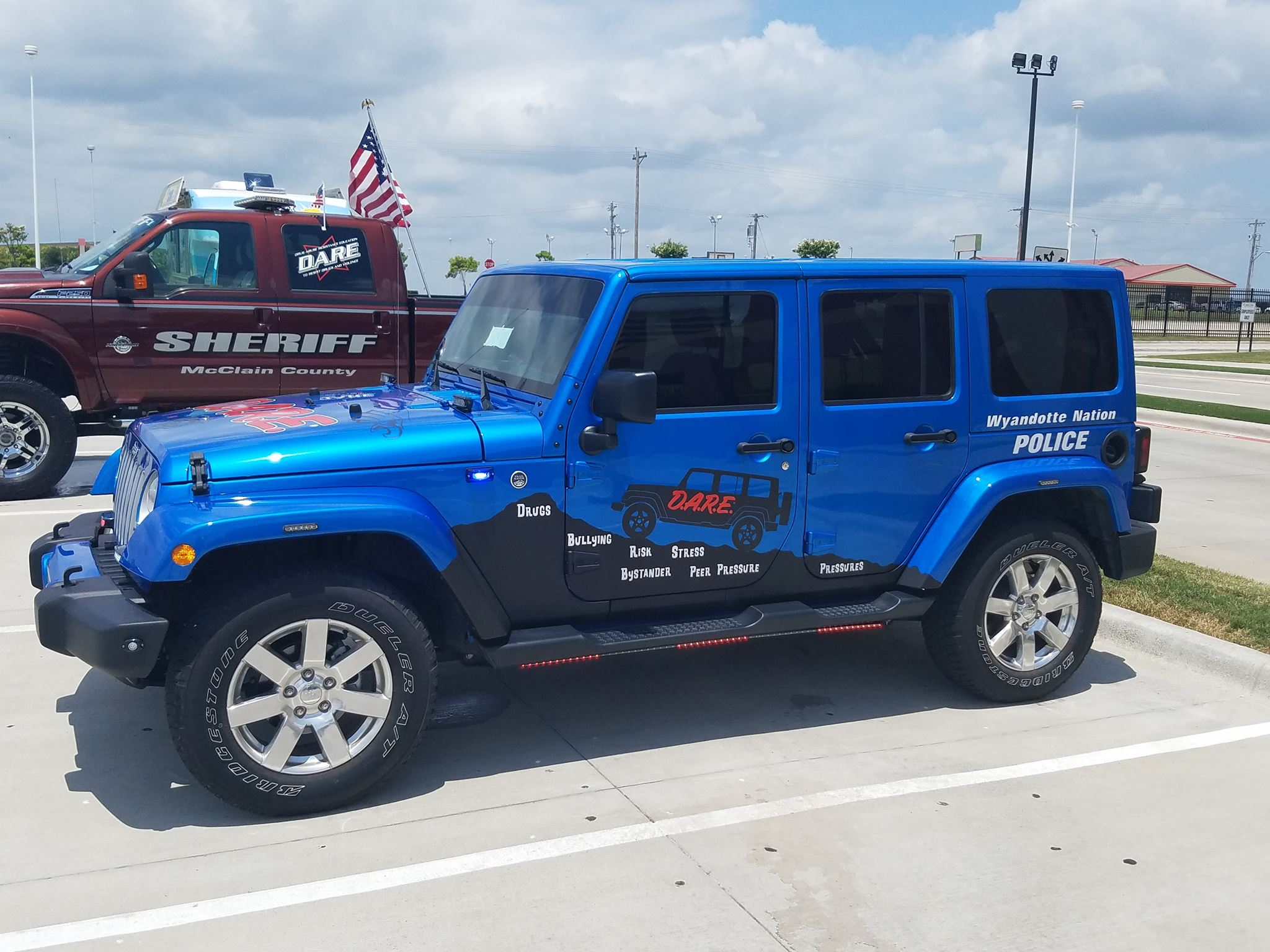 Wyandotte Nation Police Dept. vehicle. (Courtesy of Tony Martinez/KTUL)