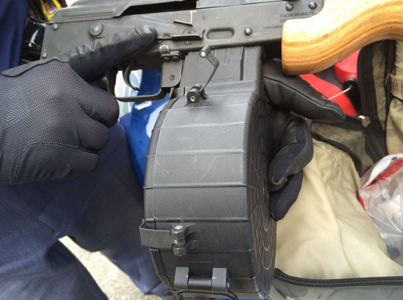 Michigan State Police says they have seized a 7.62X39 assault rifle on a traffic stop in the 600 Block of Lincoln in Flint. (Photo courtesy of Michigan State Police)