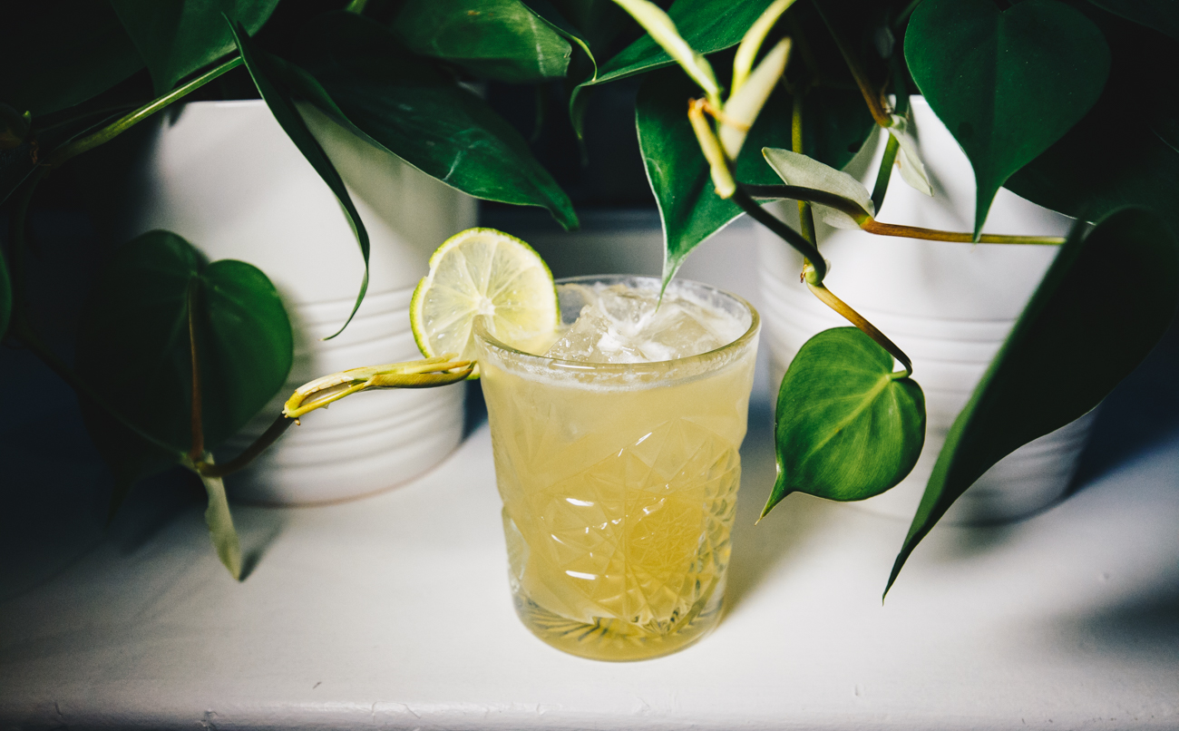 Big Noodz: your choice of Bulleit Rye or Watershed Four Peel Gin, fresh lime, and Gosling's Ginger Beer / Image: Catherine Viox // Published: 3.5.19