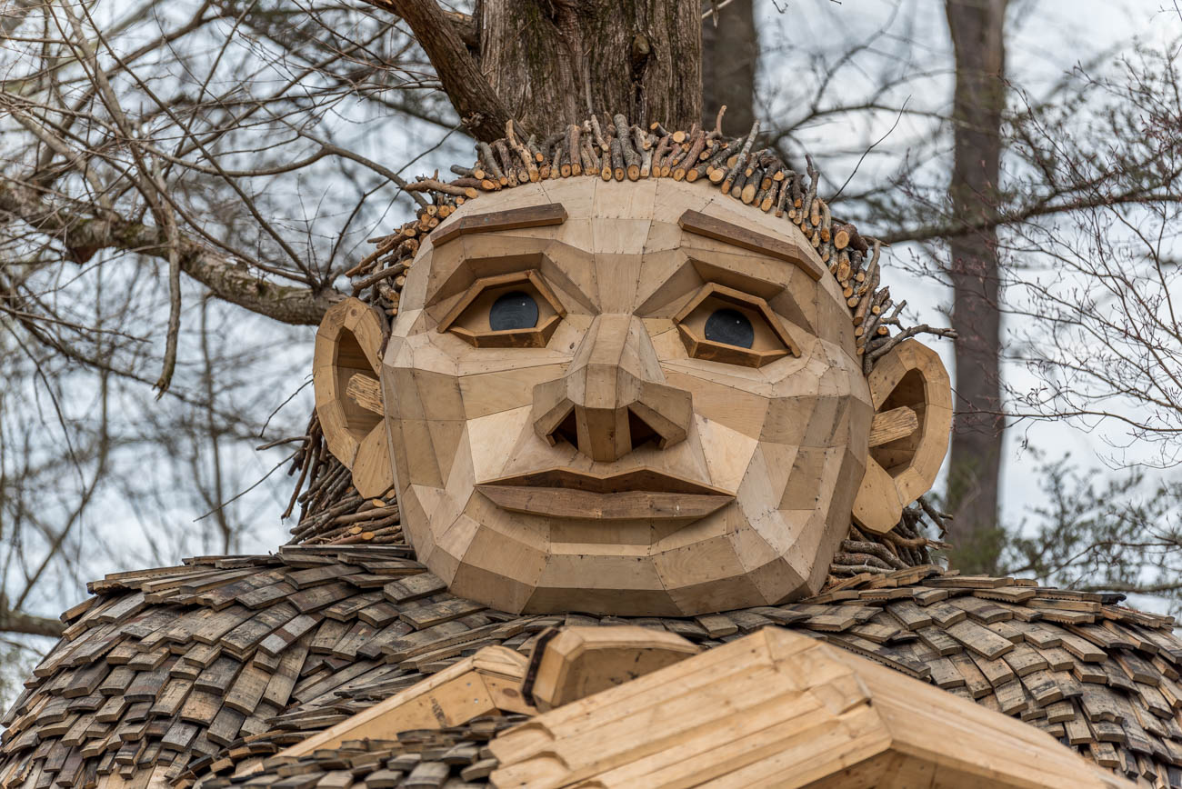 "Aside from gazing at giant trolls, Bernheim guests can discover other art displays throughout the park, enjoy over 40 miles of scenic hiking and biking trails, try out the edible garden, visit a Visitor Center with Isaac's Café inside, attend seasonal events, and participate in educational and research projects on the grounds and in the Education Center. The site is considered a ""living laboratory"" when it comes to learning about the best practices for environmental protection and conservation. / Image: Mike Menke // Published: 4.23.19{ }"