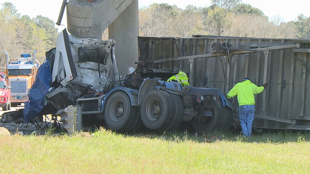 Driver killed, overpass damaged in wreck on I-26 near mile-marker 153 in Orangeburg County, March 9 (WOLO)<p></p>