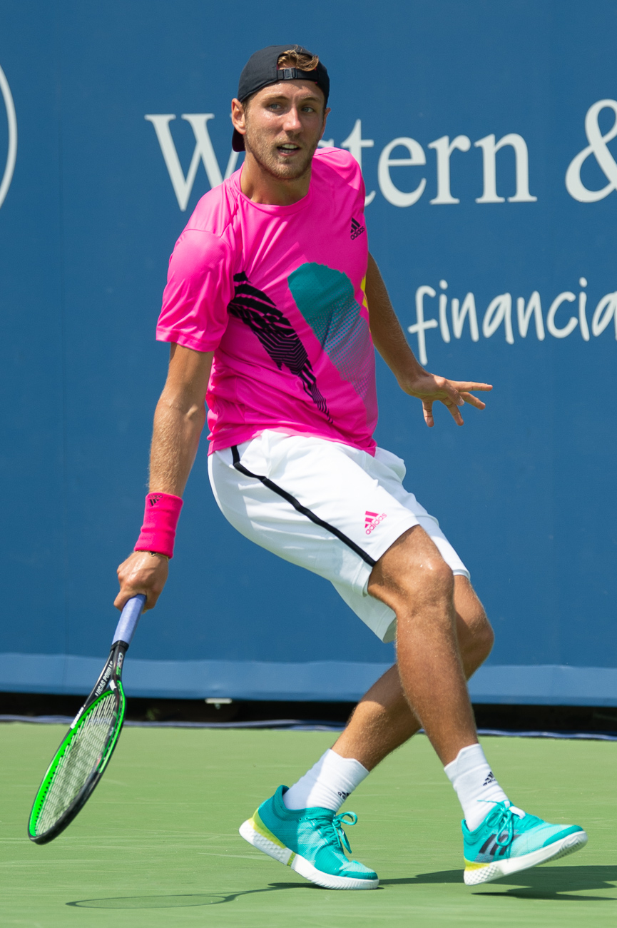 Lucas Pouille matches with neon / Image: Chris Jenco // Published: 8.17.18