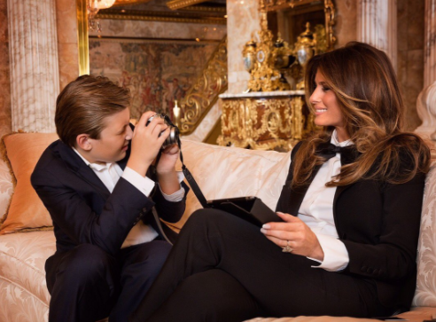 First lady: Son Barron to attend private Episcopal school in Maryland beginning this fall. (Photo courtesy of Melania Trump via Twitter/@FLOTUS)