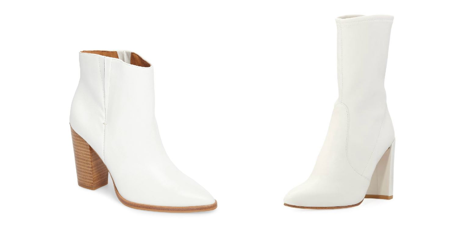 "You have probably seen the cute booties in magazines, on celebrities or in your favorite fashion blogs. Maybe you even bought a pair thinking, ""they are white they will go with everything!"" But in case you're struggling,{&amp;nbsp;}we are here for a bit of fashion guidance on how to wear your new winter white heeled boots. (Images: Courtesy Nordstrom and Neiman Marcus){&amp;nbsp;}<p></p>"