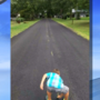 Three Rivers boy gets to work striping recently paved road himself