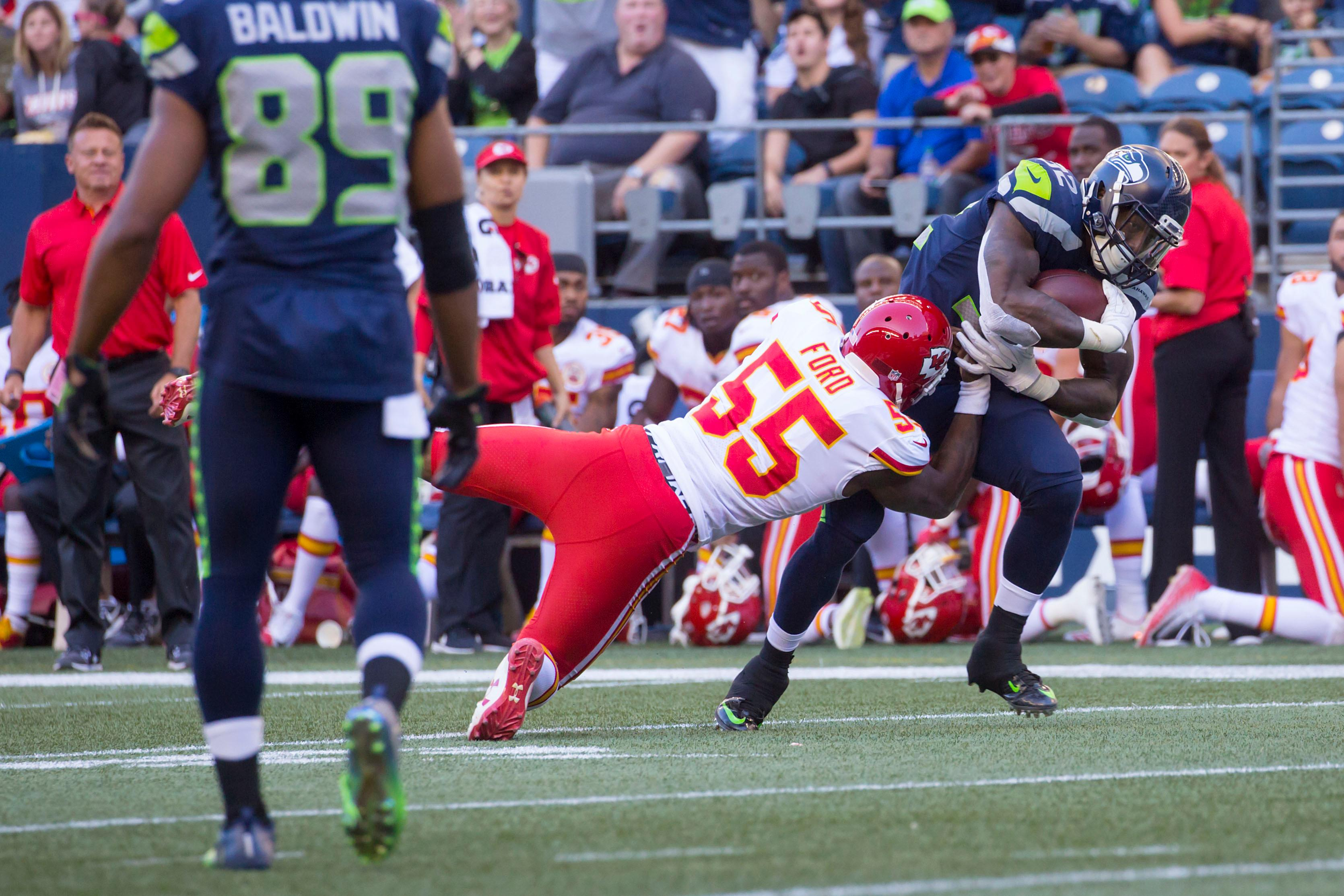 The Seahawks take on the Kansas City Chiefs on Friday, August 25, 2017 for the second pre-season game in a row at CenturyLink Field in Seattle. 12s celebrated and tailgated before the game on a beautiful summer Friday. The final score was 26-13, with the Seattle Seahawks taking the 'W'. (Image: Sy Bean / Seattle Refined)