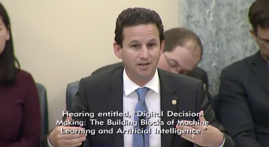 Subcommittees' Ranking Member Senator Brian Schatz, D- Hawaii/Photo: Senate Committee on Commerce, Science, &amp;amp; Transportation's Subcommittee on Communications, Technology, Innovation, and the Internet<p></p>