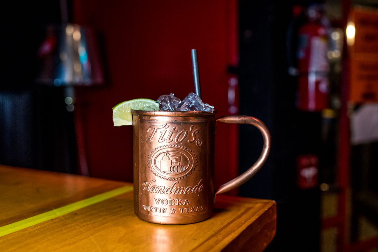 Moscow Mule: Tito's Vodka, splash of lime, and topped with ginger beer / Image: Catherine Viox // Published: 12.26.19