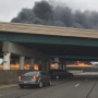 Drivers said they were frightened by fiery crash and felt helpless