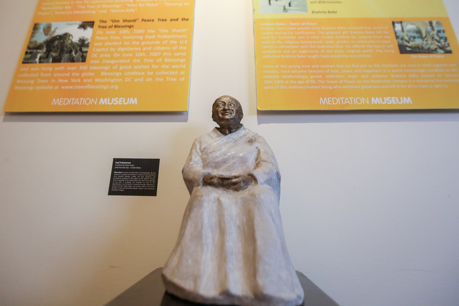 A statue of{&nbsp;}Lekhraj Kripalani, the founder of{&nbsp;}Brahma Kumaris. The museum's director is Sister Janet, the great great granddaughter of Kripalani.{&nbsp;}(Amanda Andrade-Rhoades/DC Refined)<p></p>