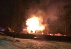 Flames tear through East Greenwich home
