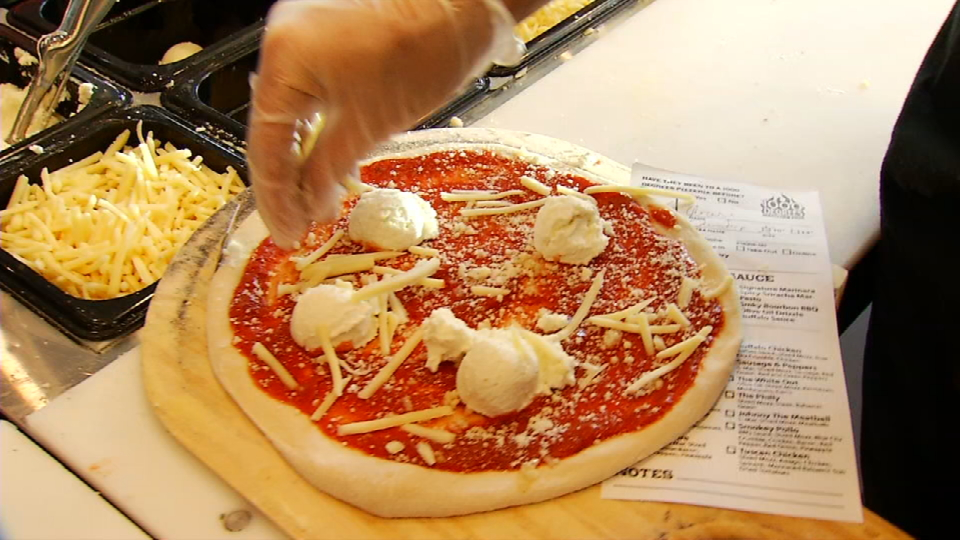 This is the popular pizza Margarita on its cooking process{&amp;nbsp;} (News 4 San Antonio)<p></p>