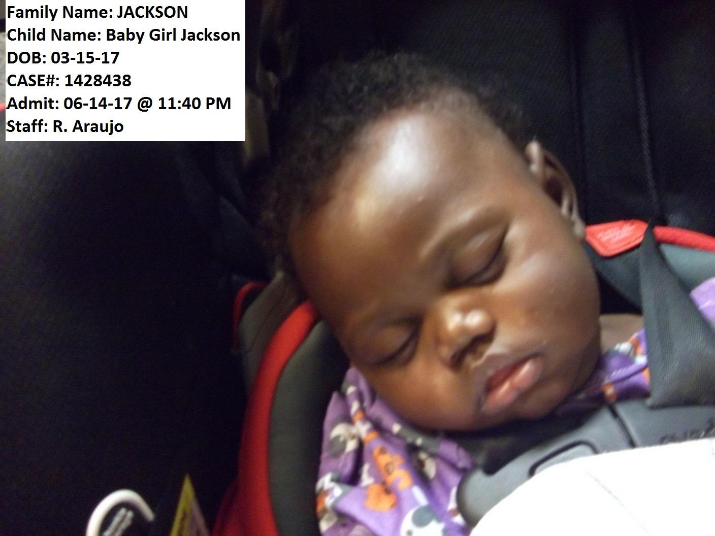 "Officers say ""Baby Girl Jackson"" has been found safe after she was dropped off at a local church. (Mohave County Sheriff's Office)"